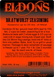 Bratwurst Seasoning