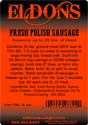 Polish Sausage Seasoning