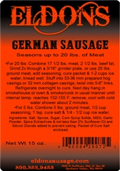 German Sausage Seasoning - For 20#