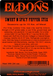Sweet & Spicy Pepperstick Seasoning - For 15#
