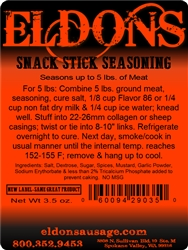 Eldons Premium Snack Stick Seasoning
