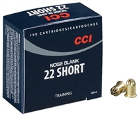CCI 22 SHORT NOISE BLANK 100 ROUNDS TRAINING