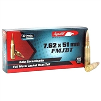 AGUILA 150GR 7.62X51MM FMJBT 7.62 NATO 20 RND BOX * BRASS * NO LIMITS --ONE DAY  SALE