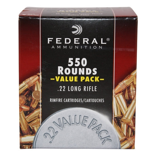 federal 22lr value pack 550 rnd box 36gr