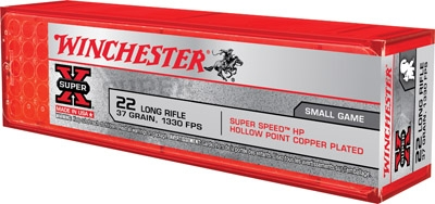 WINCHESTER 22LR 37GR 1330 FPS CP-HP 100 RND BOX  *NO LIMITS*