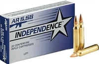 Federal Independence 5.56 Nato ( 223 ) BRASS 55gr 20 rnd Box *NO LIMITS* 4TH OF JULY SALE *EXTENDED*