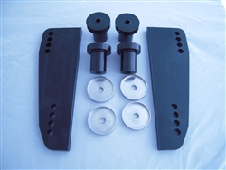 Vibra-Stop 30HP-115HP outboard motor transom pads with bushings, complete kit - Model MDRNG-VSKNK