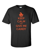Keep Calm And Give Me Candy Halloween Men's T-Shirt (526)