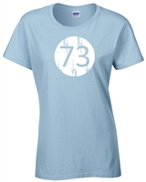 Big Bang Theory 73 Junior Fit LADIES T-Shirt (845)