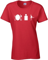 Eat Sleep Dance LADIES T-Shirt  (890)