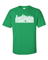 Boston Strong  City Skyline Men's Tee Shirt (696)