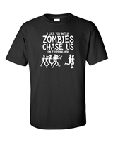 I Like You But if Zombies Men's T-Shirt White Print (292)