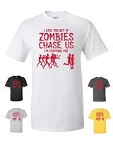 I Like You But if Zombies Men's T-Shirt  Red Print (292)