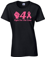 Fight For the Cure Breast Cancer Awareness JUNIOR FIT Ladies T-Shirt (238)
