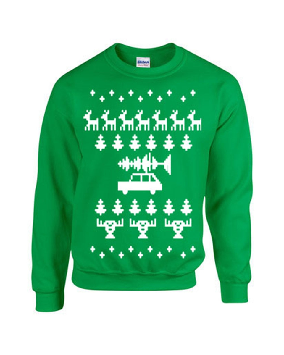 Ugly Christmas Sweater Design.Ugly Christmas Sweater Design Crew Sweatshirt B116