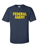 Federal Agent Printed on Front Men's T-Shirt (457)