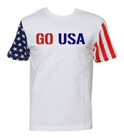 GO USA Stars and Stripes Sleeves Men't T-Shirt (682)