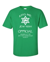 St. Patrick's Day Kiss Me I'm Jew-Rish Men's T-Shirt (1051)