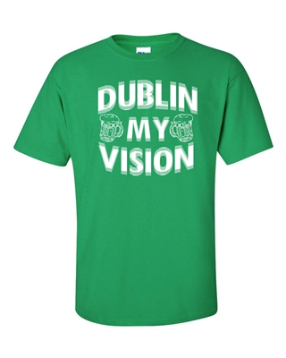 St. Patrick's Day Dublin My Vision Men's T-Shirt (1057)