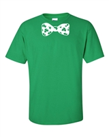St. Patrick's Day Shamrock Bow Tie Men's T-Shirt (1064)