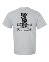 Navy Seal Sniper Front and Back Men's T-Shirt (1063)