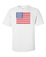 American Flag Beer Pong Men's T-Shirt (1081)