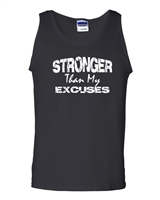 Stronger Than My Excuses Men's Tank Top (1074)