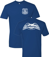 Blue Lives Matter Badge on Front and Wings on Back Men's T-Shirt (1166)
