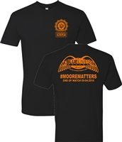 Blue Lives Matter #Moorematters Men's T-Shirt (1169)