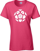 USA World Cup Soccer Ball  JUNIOR FIT Ladies T-Shirt (1176)