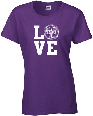 LOVE USA Soccer JUNIOR FIT Ladies T-Shirt (1177)