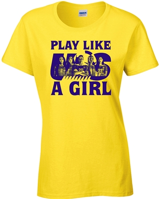 Play Like a Girl USA Soccer JUNIOR FIT Ladies T-Shirt (1178)