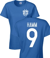 Mia Hamm USA Soccer Team  Front & Back JUNIOR FIT Ladies T-Shirt (1183)