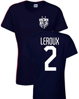 Sydney Leroux US Soccer Front & Back JUNIOR FIT Ladies T- Shirt (1190)