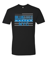 Blue Lives Matter NYC US Flag Men's T-Shirt (1223)