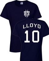 Carli Lloyd US Soccer Front & Back JUNIOR FIT Ladies T-Shirt (1087)