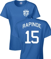 Megan Rapinoe US Soccer Front & Back JUNIOR FIT Ladies T-Shirt (1089)