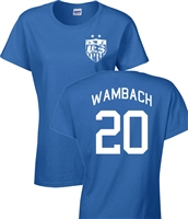 Abby Wambach US Soccer Front & Back JUNIOR FIT Ladies T-Shirt (1090)
