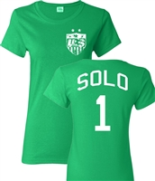 Hope Solo US Soccer Front & Back JUNIOR FIT Ladies T-Shirt (1091)