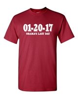 Obama's Last Day In Office 01-20-17 Men's T-Shirt (1008)