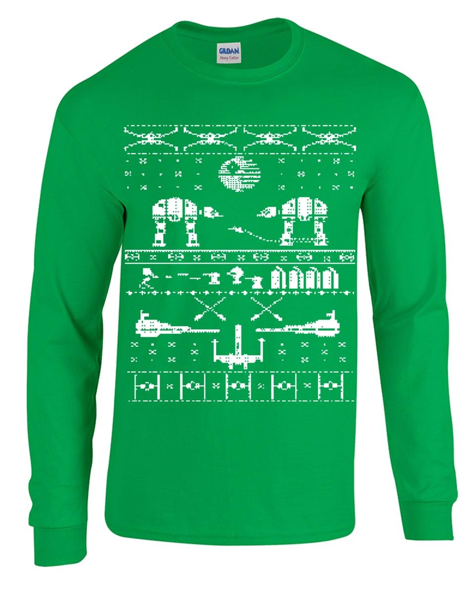 star wars christmas ugly sweater long sleeve mens t shirt b120