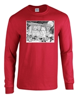 Merry Christmas Sh*tter Was Full 2 COLOR LONG SLEEVE Men's T-Shirt (1292)