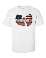 Wu Tang Clan American Flag Sublimation Printed Men't T-Shirt