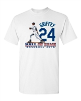 Ken Griffey Jr. Hall of Fame Sublimation Printed Men's T-Shirt