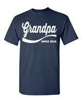 Grandpa Since 2016 Men's T-Shirt (1338)