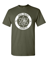 Krav Maga Combat Circle IDF Printed on the BACK Men's T-Shirt (1360)