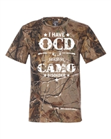 I Have OCD-Obsessive Camo Disorder Real Tree Men's T-Shirt (1370)