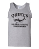 Quint's Shark Fishing - Jaws Black Print Men's Tank Top (1412)