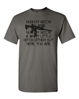Nobody Needs an AR-15 Rifle Gun Rights Men's T-Shirt (1423)