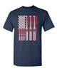 USA Flag Baseball Bats and Balls Men's T-Shirt (1434)
